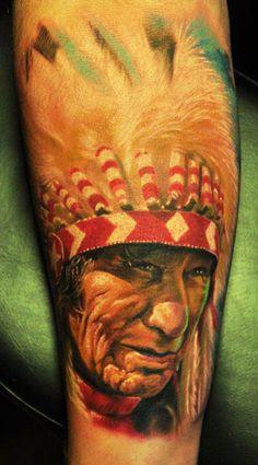 Tattoo Artist - Den Yakovlev - indians tattoo | www.worldtattoogallery.com