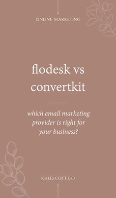 Not sure which email marketing platform is right for your business? Check out my side-by-side comparison of Flodesk vs. ConvertKit! | Flodesk vs ConvertKit | ConvertKit vs Flodesk | Flodesk Emai Design | Email Marketing Strategy | Email Marketing Platforms | Online Marketing Strategy Marketing Topics, Email Marketing Services, Online Marketing Strategies, Marketing Ideas, Media Marketing, Business Design, Business Tips, Creative Business, Online Business