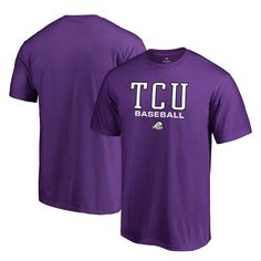 TCU Horned Frogs Fanatics Branded Big & Tall True Sport Baseball T-Shirt - Purple - $27.99