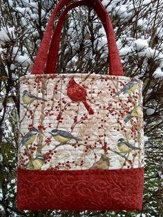 Vintage Felt Tote Bag with Oak Leaves and Acorns *wine tote *toy bag *purse *navy