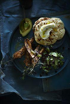 Linguine with prawns and lemon gremolata crumb