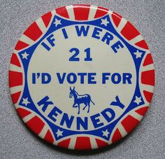 OK not a newspaper but still on Ebay. Giving up my Kennedy collection of political buttons plus more newspapers.
