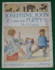 Josephine John and The Puppy Mrs H Cradock Illustrated by Honor Appleton | eBay