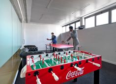 serving as the biggest bottling plant for coca cola in italy, the workspace includes a setting inspired by jacobs pharmacy in atlanta- where coca cola invented by the pharmacist, john s. pemberton.