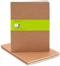 [Notebooks and Journals] Moleskine Cahier Kraft Extra Large Plain Journal, Set of 3