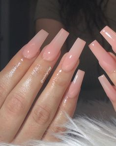 In look for some nail designs and ideas for your nails? Listed here is our set of must-try coffin acrylic nails for cool women. Long Square Acrylic Nails, Pink Acrylic Nails, Acrylic Nail Designs, Long Square Nails, Coffin Acrylic Nails Long, Long Nail Designs Square, Pink Tip Nails, Aycrlic Nails, Swag Nails