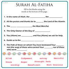 surah Al- Fatiha