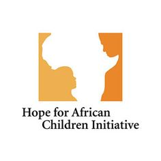 The Hope for African Children Initiative's brand clearly contains the continent of Africa, but it also includes a child and an adult facing each other within the negative space.  #logo, #design, #inspiration