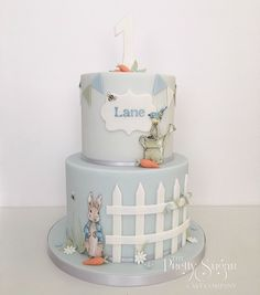 Browse through the different cakes we create here at The Pretty Sugar Cake Company, from Wedding Cakes & Wedding Favours to Celebration Cakes, to Cupcakes & Cookies. Baby First Cake, Baby 1st Birthday Cake, Bunny Birthday, Birthday Ideas, Happy Birthday, Peter Rabbit Cake, Peter Rabbit Birthday, Beatrix Potter Birthday Party, Beatrix Potter Cake