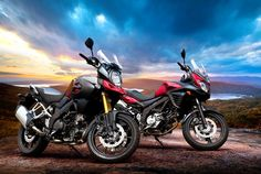 The Suzuki V-Strom 650 in the same red as the V-Strom 1000. Both will be on display on the Suzuki stand at Motorcycle Live!