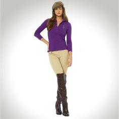 Ralph Lauren Women Orange Big Pony Long Sleeved Polo