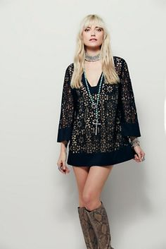 Free People Love Found Lace Tunic at Free People Clothing Boutique