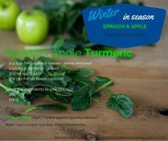INGREDIENTS ½ cup fresh spinach leaves, washed and stems removed 300 ml apple juice 1 cm fresh turmeric – grated Tiny pinch of chilli flakes (optional) METHOD Add ingredients to the Blitz2Go container Pulse and serve  Recipes created and shared by Kyrstie Barcak atA Fresh Legacy – Grow Fresh Cook Fresh She aims to inspire others t...