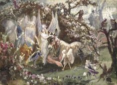 fleurdulys:  Titania and Bottom - John Anster Fitzgerald  19th century