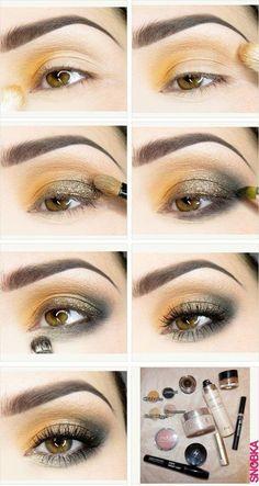 Golden Orange Eye Shadow!