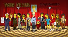 15 Twin Peaks Characters As If They Appeared On The Simpsons
