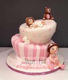 Girl Batism Cake Bolo para Batizado de Menina