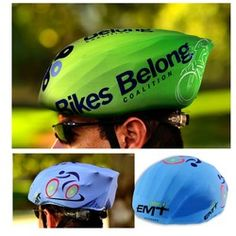 Bicycle Helmet Cover w/Full Color Imprint Bike Helmets, Bicycle Helmet, Bike Storage Bag, National Bike Month, Bike Events, Helmet Covers, Bicycle Accessories, Corporate Gifts, Compact