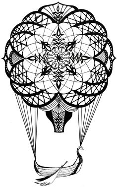 Hot Air Balloon design for a linocut?  Maybe I'll do it as an etching.  I just found out that you can do intaglio with polymer plates. . . . Don't know yet.