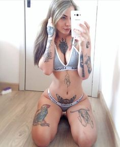 """2 Likes, 1 Comments - The world in tattoos! (@mytinytattoo) on Instagram: """"Follow @tattooed_hunnies for the hottest inked girls on your feed! . Don't miss out! . #model…"""""""