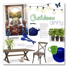 """Outdoor Dining"" by alexandrazeres ❤ liked on Polyvore featuring interior, interiors, interior design, home, home decor, interior decorating, Martha Stewart, Frontgate, Boskke and Rachael Ray"