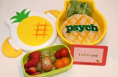 ADORABLE psych themed lunch. My children will love dialogue and appreciate all that Psych has to offer.