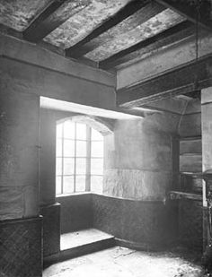 Friary, Friar Yard -interior, Nottingham 1927 Thoroton Society