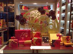 Godiva chocolates CNY shop window