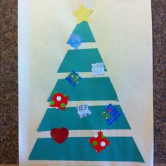 pinterest christmas kindergarten art class | Preschool Christmas tree craft