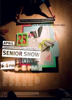 Senior Show Poster 2008 | Dan Blackman | http://www.dblackman.com