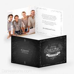 Weihnachtskarte Schön Festlich 14.5 x 14.5 cm - Dankeskarte.com Christmas Cards, Merry, Cover, Books, Thanks Card, Xmas Cards, Nice Asses, Pictures, Christmas E Cards