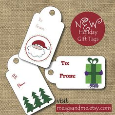 meags and me #Holiday #Gift #Tags
