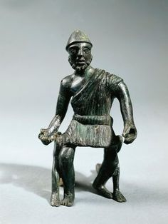 Statuette representing Hephaestus, bronze,greek bronze from Metaponto,Italy,3rd century BC Museo Archeologico Nazionale