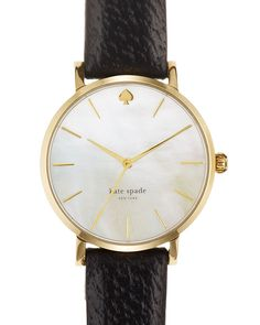 kate spade new york Gold Metro Strap Watch, 34mm | Bloomingdale's LOVE