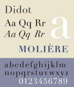 The most famous Didot typefaces were developed in the period 1784–1811. Firmin Didot (1764–1836) cut the letters, and cast them as type in Paris.