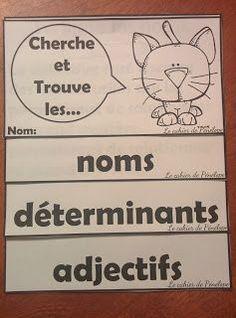 Le cahier de Pénélope: Cahier interactif sur les classes de mots Gratuit sur le blogue www.lecahierdepenelope