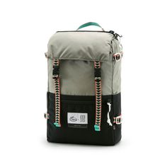 Topo Designs, X Chaco Rover Pack -- This shoe-bag crossover pack, a collaboration between Topo Designs and Chaco Footwear, could be added to your bag collection if you want (or need) a small, rugged, mountaineer style backpack, that's large enough to carry a 15 inch laptop and a smallish amount of gear. This limited edition pack features design elements from Chaco, for example the pack's webbing, and has YKK zippers, travel bag attachment loops, and two exterior zipper pockets.
