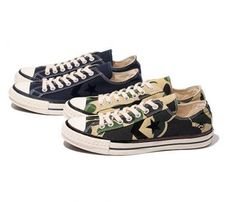 STUSSY x CONVERSE CX-PRO OX OLIVE CAMO & NAVY #sneaker