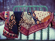 Hand and Cloth reclaimed cotton saris sewn into quilts