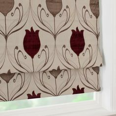 Wine Lalique Collection Blackout Roman Blind | Dunelm