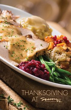 Book your reservation at Seasons 52 today!  Join us for a Thanksgiving meal that celebrates seasonal flavors and features Plainville Farms​ Roasted Turkey. Their turkeys are never ever given antibiotics and are raised by a family of farmers, dedicated to providing a stress-free environment.