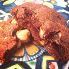 Chocolate fudge cookies with peanut butter chips #dessert #chocolate #cookies #peanut butter #milk