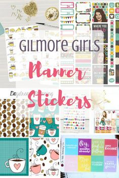Are you a Gilmore Girls fan? Are you a planner? We've rounded up the best Gilmore Girl planner stickers just in time for the Netflix release of the revival episodes!