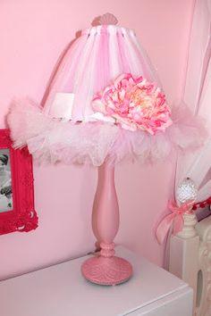 Toddler Princess Room - Pink tutu lamp shade tutorial