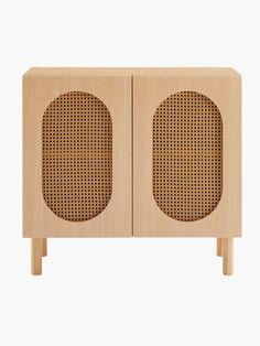 Buy Kona Rattan 2 Door Cabinet Online Australia Wooden Bed Base, Wooden Bed Frames, Contemporary Design, Modern Design, Rattan Coffee Table, Door Panels, Organic Modern, Hidden Storage