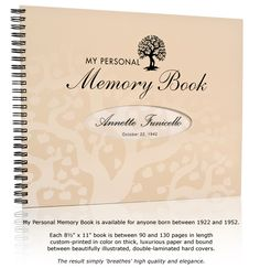 My Personal Memory Book - A Truly Memorable Birthday Gift - My Personal Memory Book - Birthday Gift