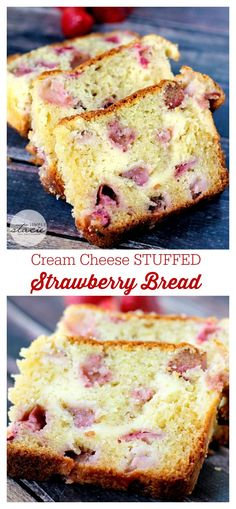 Cream Cheese Stuffed Strawberry Bread - a super moist, melt-in-your-mouth kind of recipe!