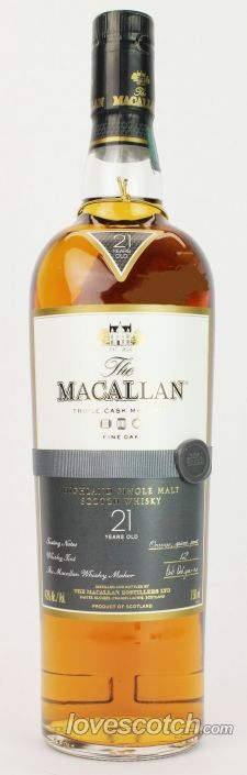 A Highland single malt that's old enough to order it's own single malt.  Macallan 21 Year Old Fine Oak Single Malt