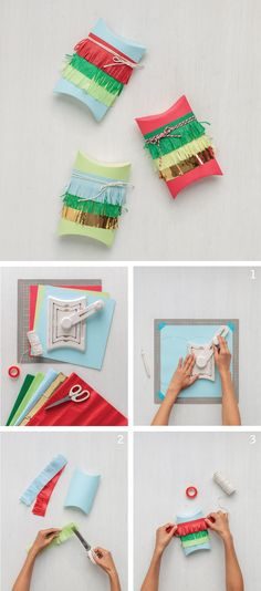 The Martha Stewart Crafts pillow gift box tool creates perfect favor boxes in three different sizes. Add some fringe to complete the look!