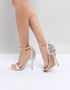 428c1426b420e1 Chi Chi London Bridal Barely There Heeled Sandal With Embellishment at asos .com